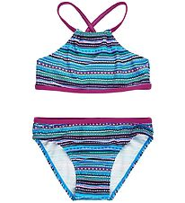 Color Kids Bikini - Kate - UV40+ - Berry w. Pattern