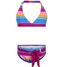 Color Kids Bikini - Tippe - UV40+ - Berry w. Stripes