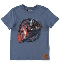 Wheat Marvel T-shirt - Captain America - Blue Horizon