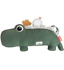 Done By Deer Pillow w. Activity Toy - Croco - 41 cm - Green