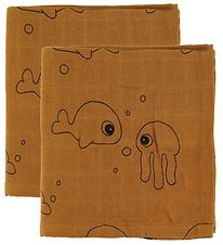 Done By Deer Swaddle - 120x120 - 2-pack - Sea Friends - Mus