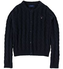 GANT Cardigan - Knit - Cable - Navy
