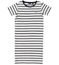 GANT Dress - Breton Striped - Eggshell/Navy