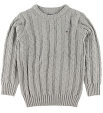 GANT Jumper - Knit - Cable - Grey Melange