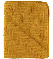 Filibabba Hooded Towel - Zigzag - 90x90 - Golden Mustard