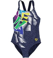 Arena Swim Suit - Funny Letters - Navy w. Print