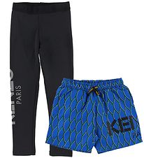 Kenzo Leggings/Shorts - Exclusive Edition - Black/Blue