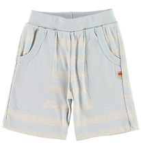 Katvig Shorts - Grey Melange/Light Blue