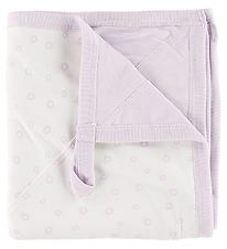 Katvig Blanket - 100x100 - White/Lavender Apples