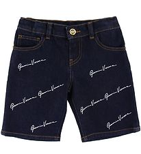 Versace Shorts - Denim - Navy w. Allover Logo