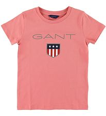 GANT T-shirt - Shield Logo - Strawberry Pink