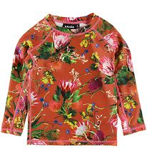 Molo Swim Top l/s - Neptune - UV50+ - Australian Flowers