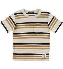 Finger In The Nose T-shirt - Kid - Sand Stripes