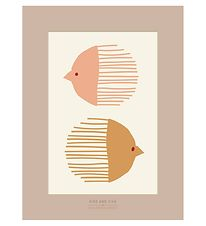 Vissevasse Poster - 50x70 - Bird And Fish