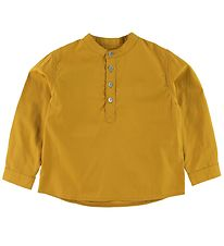 Christina Rohde Blouse - Mustard w. Buttons