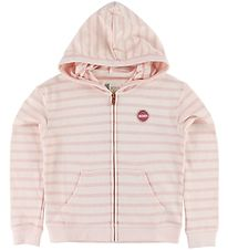 Roxy Zip Cardigan - Let Me In - Rose Striped