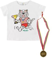 Kenzo T-shirt - Exclusive Edition - White/Rose w. Medal