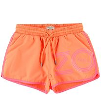 Kenzo Track Shorts - Sport Line Logo - Orange