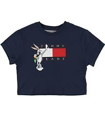Tommy Hilfiger T-shirt - Cropped - TJ x Looney - Navy