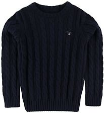 GANT Jumper - Knit - Cable - Navy