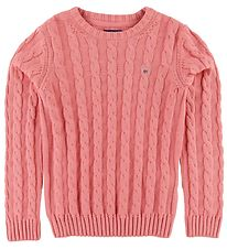 GANT Jumper - Knit - Cable - Strawberry Pink