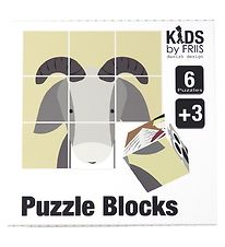 Kids by Friis Puzzle Blocks - 9 Blocks - Fairytale
