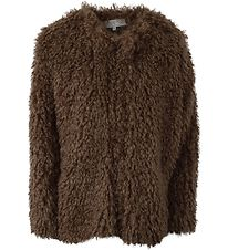 Hound Jacket - Brown Faux Fur