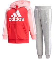 adidas Performance Training Set - Track - French Terry - Pink/Gr