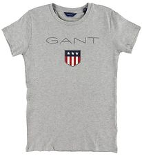 GANT T-shirt - Shield Logo - Grey Melange