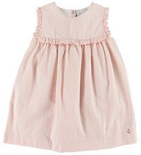 Petit Bateau Dress Sleeveless - Rose w. Stripes/Rivets