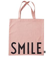 Design Letters Tote Bag - Smile - Rose