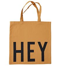 Design Letters Tote Bag - Hey - Mustard