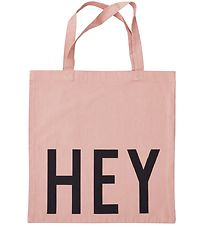 Design Letters Tote Bag - Hey - Rose