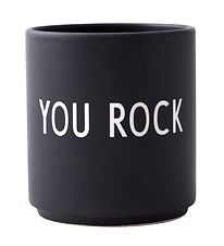 Design Letters Cup - Favourite Cups - Porcelain - Black You Rock