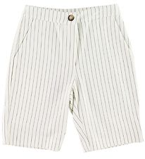Grunt Shorts - Henna Bermuda - White w. Stripes