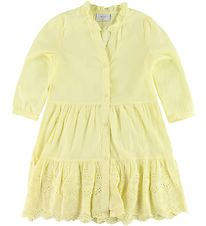 Grunt Dress - Anna - Yellow w. Embroidery
