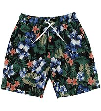 Grunt Shorts - Leaf - Navy w. Flowers