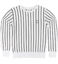 Grunt Sweatshirt - Godtfred - White w. Stripes