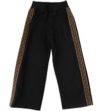 Fendi Trousers - Black w. Side Stripes/Buttons