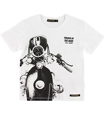 Finger In The Nose T-shirt - Kid - Hvid m. Motorcycle