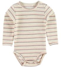 Petit by Sofie Schnoor Bodysuit l/s - Dicte - Creme w. Stripes