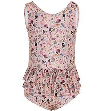Melton Swimsuit - UV50+ - Rose w. Flowers