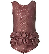 Melton Swimsuit - UV50+ - Bordeaux w. Gold