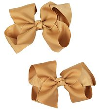 Bows By Stær Bow Hair Clips - 2-pack - 10 cm - Old Gold