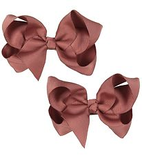 Bows By Stær Bow Hair Clips - 2-pack - 10 cm - Dusty Berry