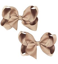 Bows By Stær Bow Hair Clips - 2-pack - 10 cm - Beige