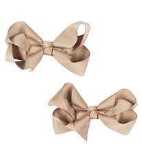 Bows By Stær Bow Hair Clips - 2-pack - 8 cm - Beige