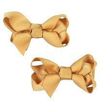 Bows By Stær Bow Hair Clips - 2-pack - 6 cm - Old Gold