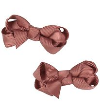 Bows By Stær Bow Hair Clips - 2-pack - 6 cm - Dusty Berry