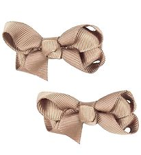Bows By Stær Bow Hair Clips - 2-pack - 6 cm - Beige